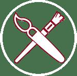 les outils de la décoratrice
