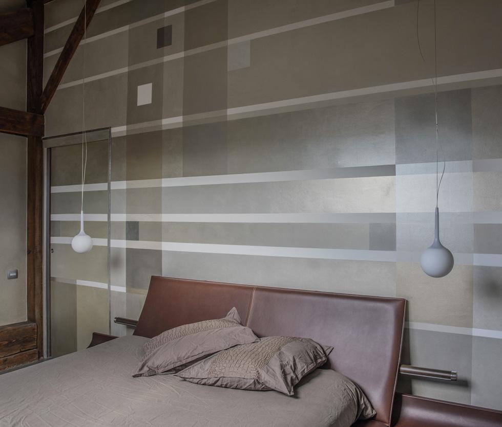 Décorations géométrique des lignes intègrent portes et ossature