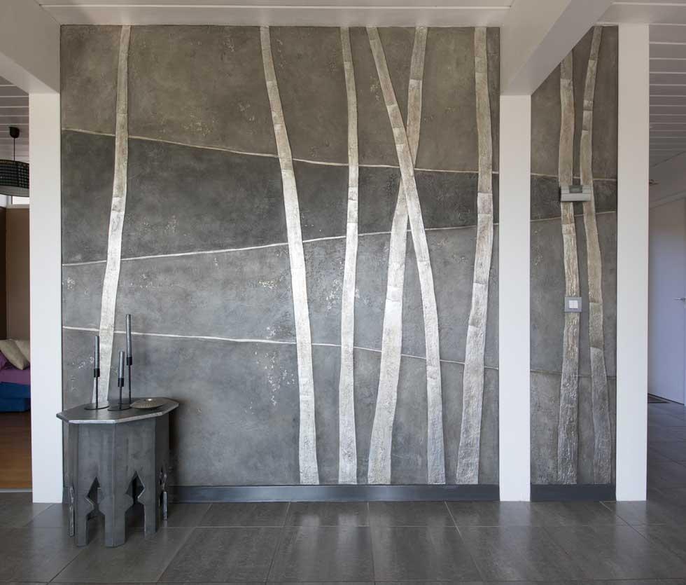 Décorations avec un Wall design du hall d'entrée